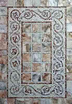 Decorar paredes con venecitas - Mosaico con venecitas