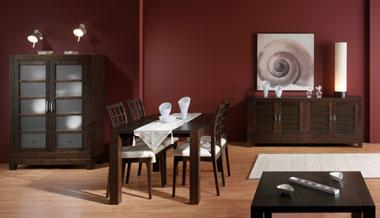 Wengu y pino blanqueado colores extremos en madera for Muebles de oficina color wengue