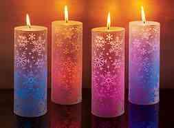 velas decoradas cambian color - Velas Decoradas