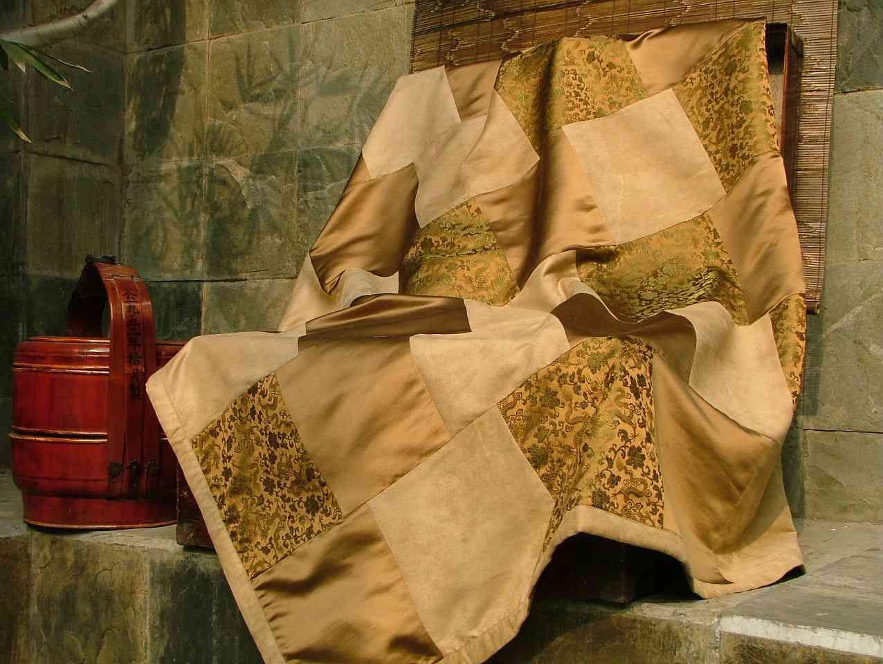 Colcha de fibras naturales