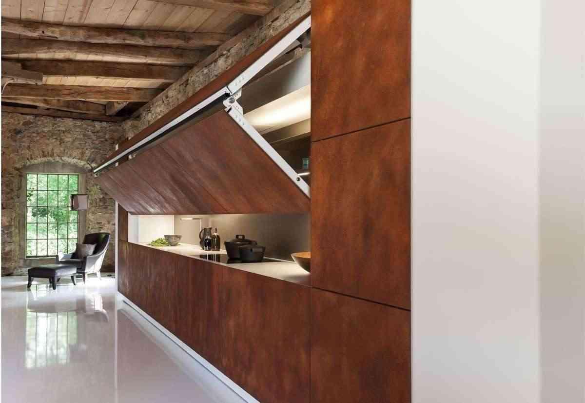 cocinas ocultas de madera