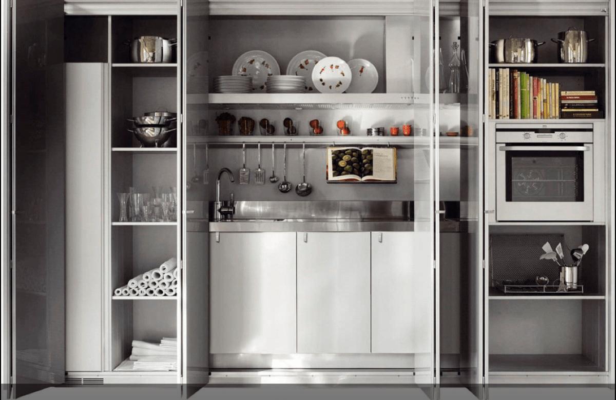 Cocinas ocultas en un armario perfectas para hogares peque os for Cocinas completas con electrodomesticos