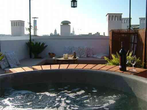 Hidromasaje en la terraza
