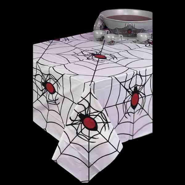 mantel arañas halloween