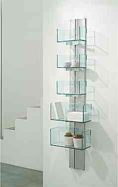 Estanterias de cristal sencillas y elegantes decoraci n - Estanterias de cristal para banos ...
