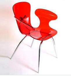 sillon rojo chino contemporaneo batavia