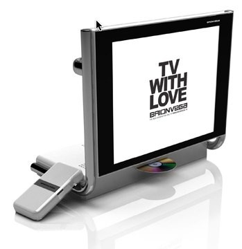 Televisión moderna de diseño retro Alpha TV