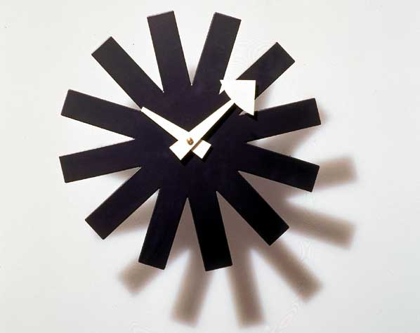 Reloj con forma de asterisco