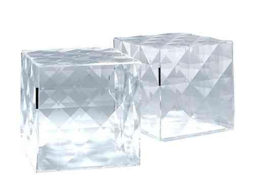 Cubo Optico de diseño en cristal para el almacenaje