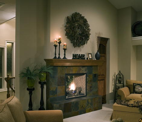 El encanto de las chimeneas decoraci n de interiores - Decoracion para chimeneas ...