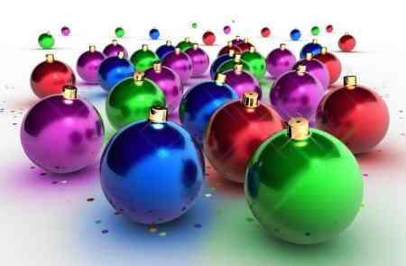 bolas arbol navidad colores niños