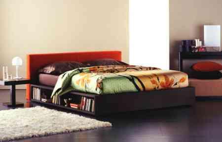cama con estanteria flou