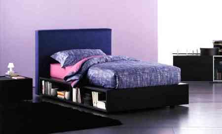 cama con estanteria individual fluo
