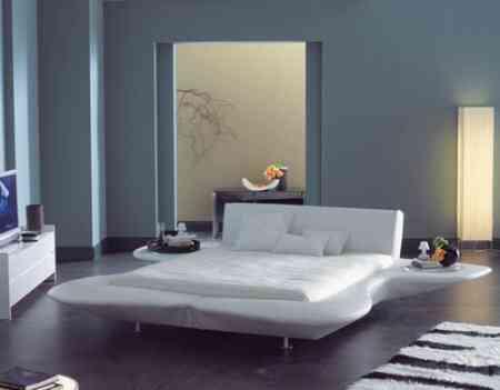 cama con mesillas ambiente fluo
