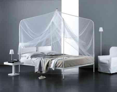 cama dosel baldaquino metal flou