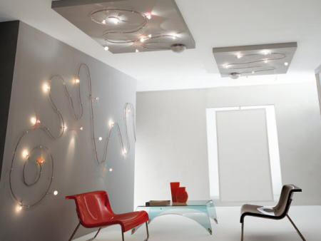 metal spot luces de pared detalle