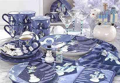 navidad en azul