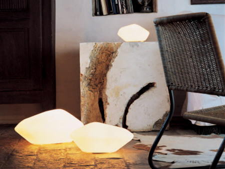 piedras cristal luz detalle oluce
