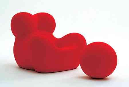 sillones rojos redondos byb