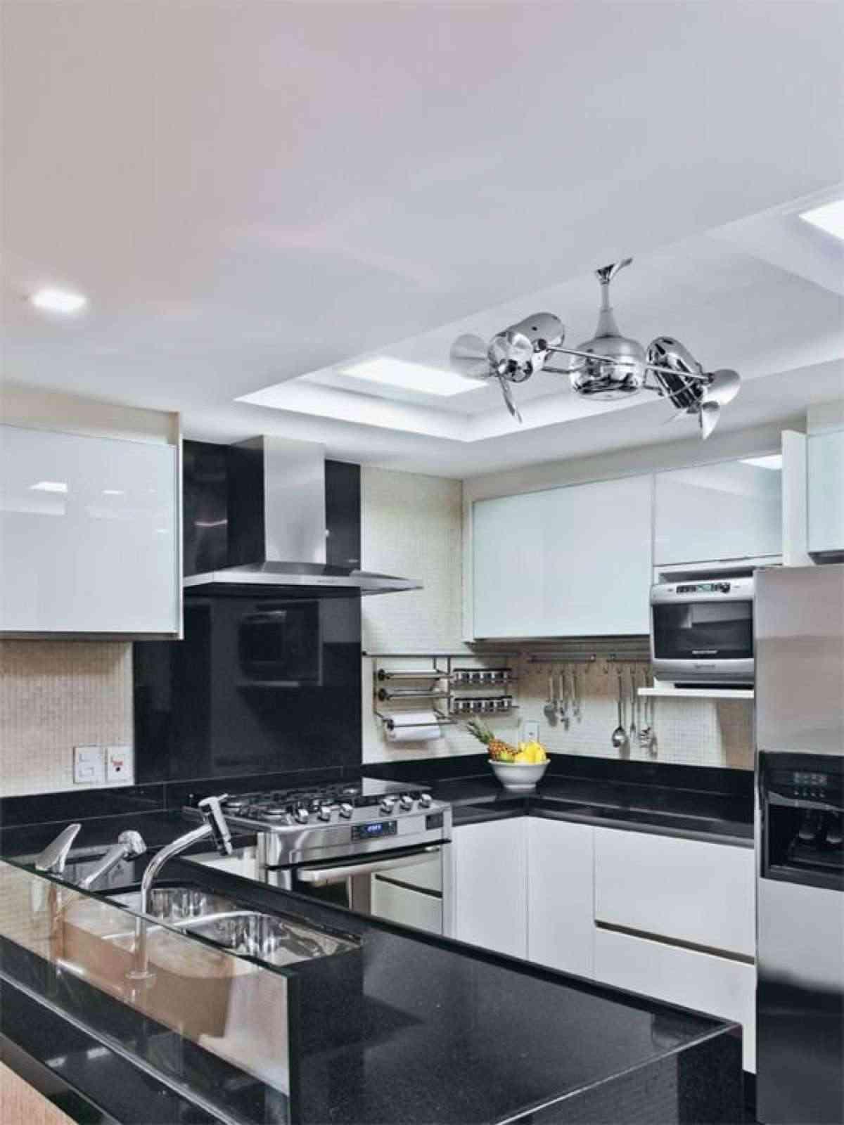 ventiladores de techo con luz para la cocina