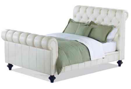 cama de piel blanca charles progers