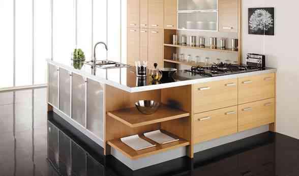 una cocina sencilla y funcional