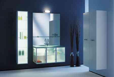composicion baño muebles con luz