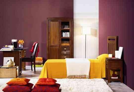 contrastes de color en el dormitorio gamamobel