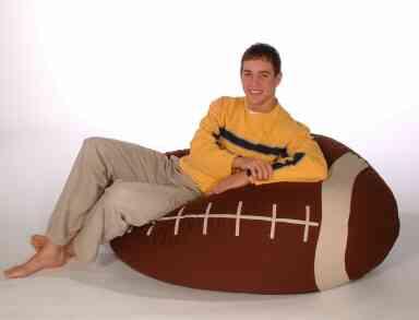 puff con forma de balon de rugby