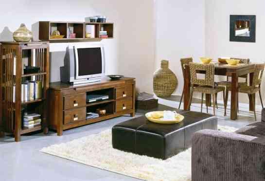 Bonito sal n de estilo tnico decoraci n de interiores for Muebles estilo etnico
