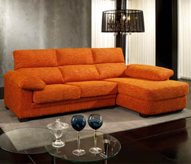 sofa color naranja