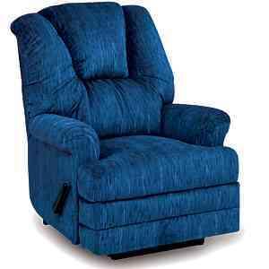 sofa reclinable azul berkline