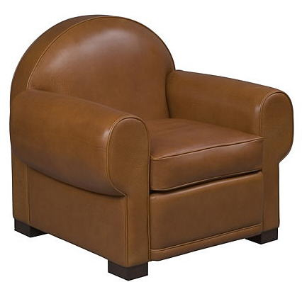 asiento de piel marron clasico edelman furniture