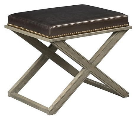 asiento de piel marron chocolate edelman furniture