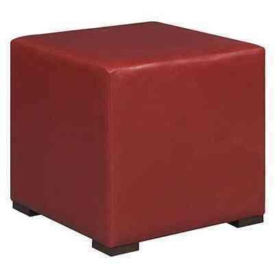 asiento de piel rojo edelman furniture