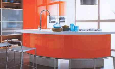 cocina naranja electrico lube