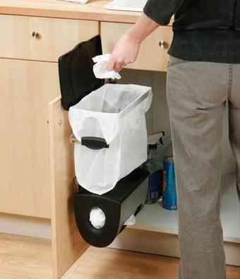 Colgador organizador y soporte para bolsas de basura - Organizador de bolsas de plastico ...