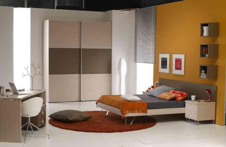 Un dormitorio juvenil elegante y actual - Decoración de Interiores ...