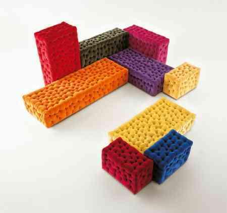 puffs de poliuretano colores meritalia