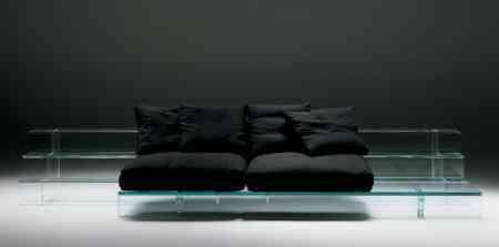 santambrogliomilano sofa de cristal