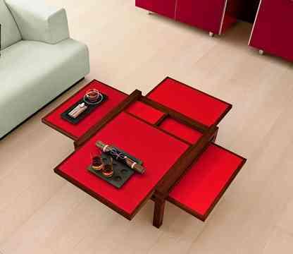 mesa multisuperficie bellato roja