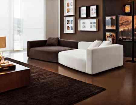 sofa bicolor berloni