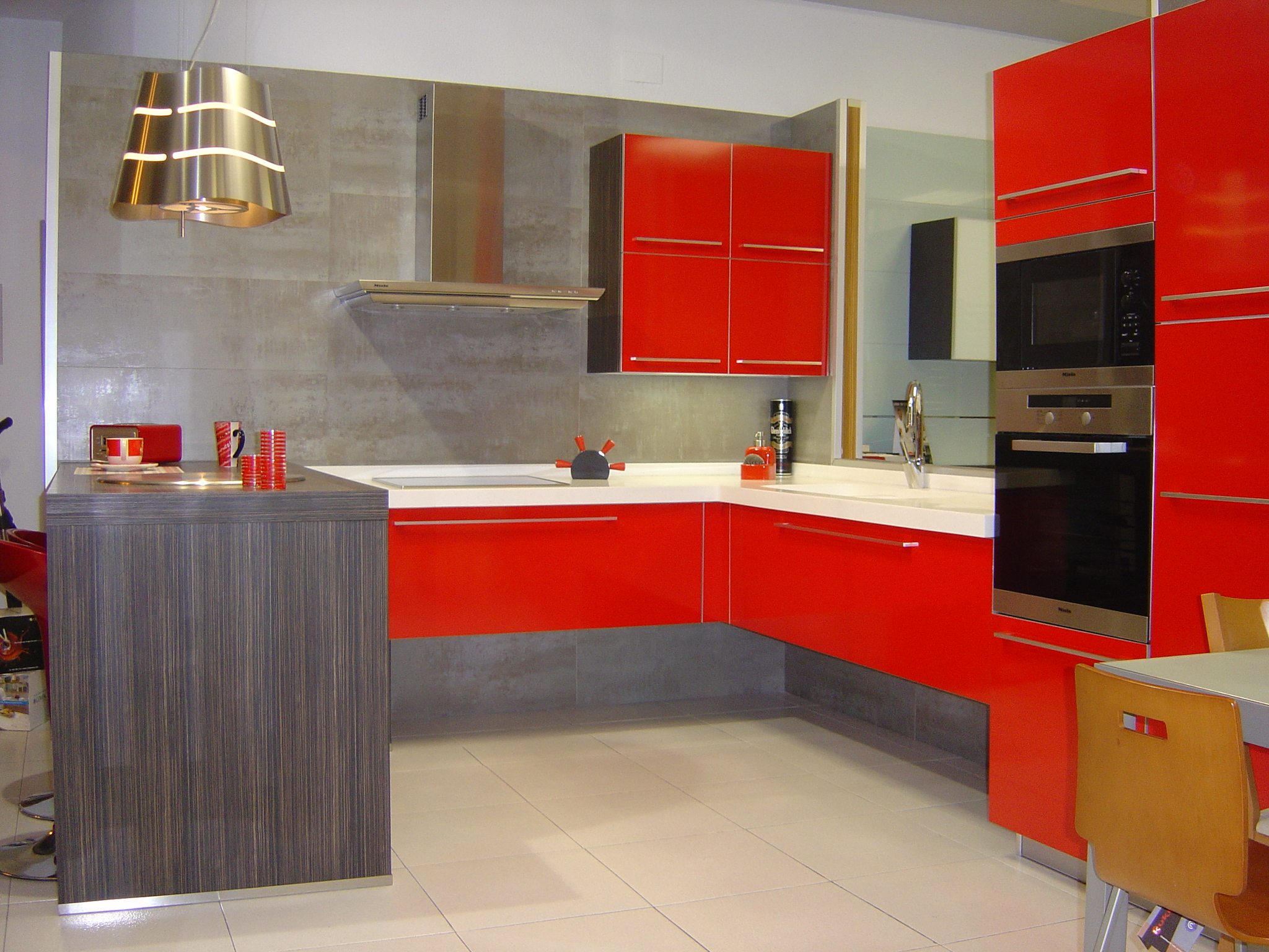 decoracion de cocinas en rojo pin decoracion de cocinas color rojo pelautscom on pinterest - Cocinas Rojas Y Blancas