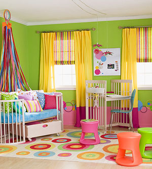 Little Girls Room Bright Colors