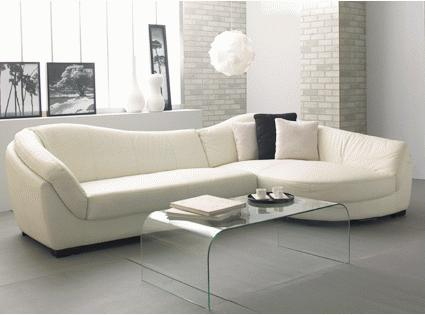 Una buena idea un sof curvo decoraci n de interiores for Muebles para oficina estilo minimalista
