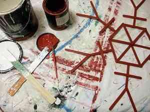 adorno pintado