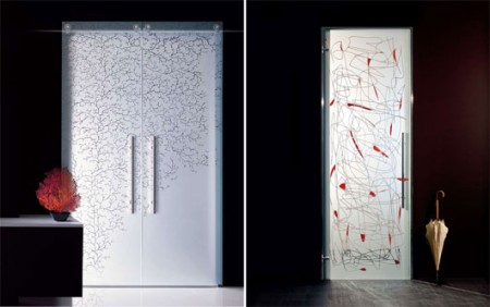 Puertas de cristal de casali decoraci n de interiores for Puertas de cristal decoradas