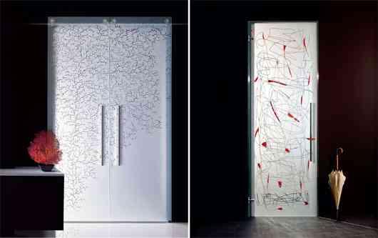 Puertas de cristal de casali decoraci n de interiores - Cristales al acido para puertas ...