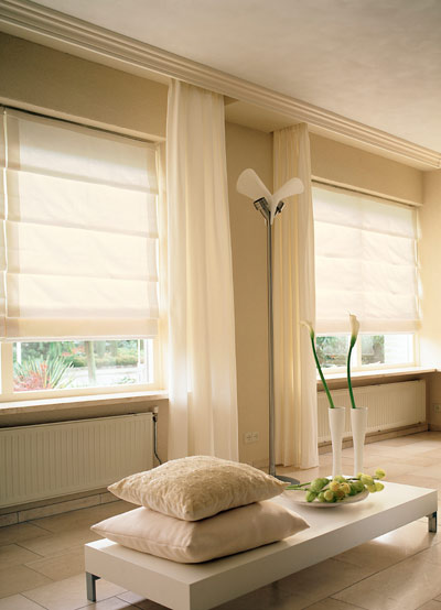Cortinas romanas una forma moderna de decorar las ventanas decoraci n de interiores opendeco - Cortinas contemporaneas ...