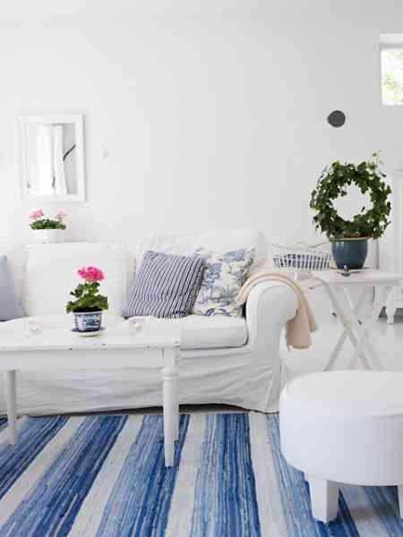 Decoracion En Blanco Y Azul Decoracion De Interiores Opendeco - Ultimo-en-decoracion-de-hogar